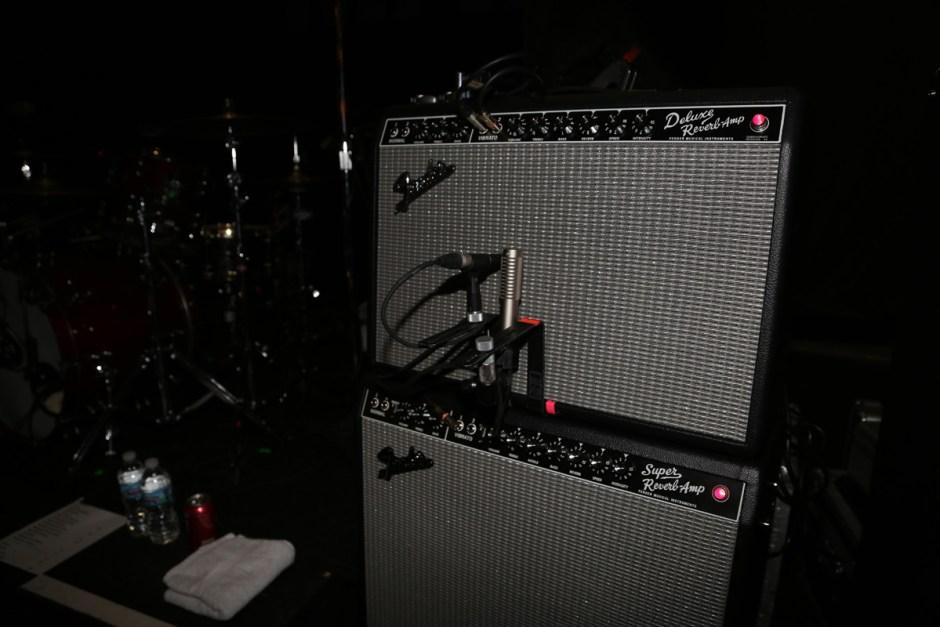 R-121 on Johnny Marr's Fender Deluxe