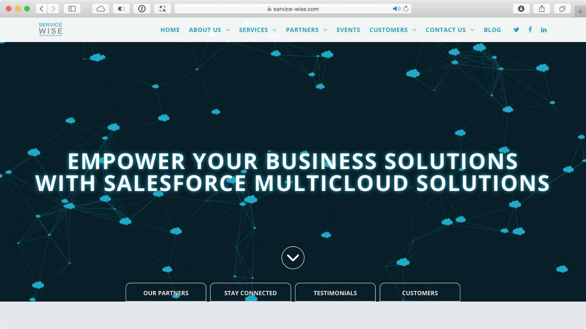 דף הבית של ServiceWise