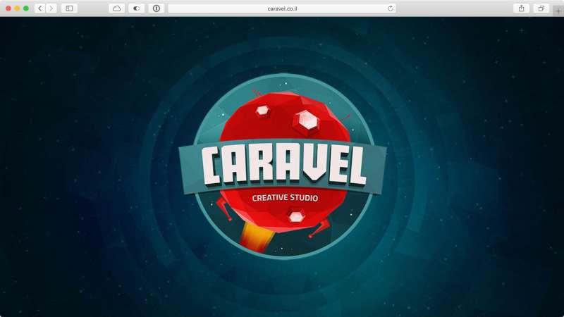 דף הבית של Caravel