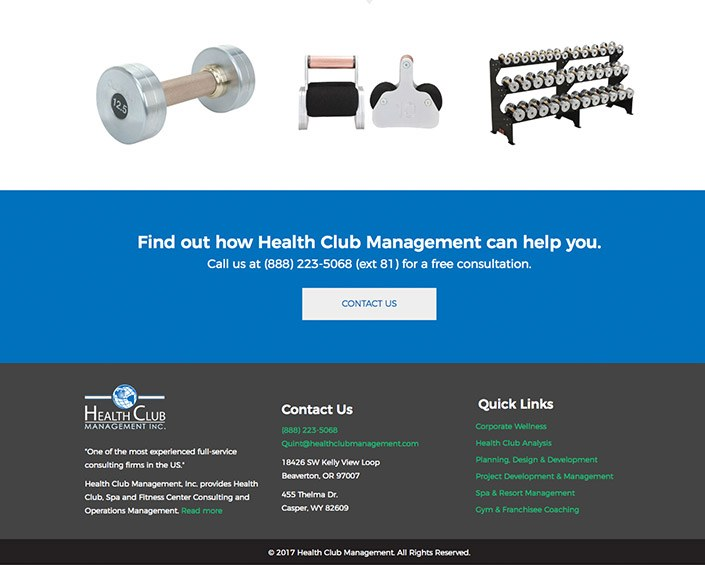 Health Club Management