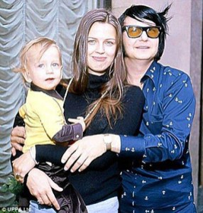 Roy Orbison Jr as a baby boy with his parents Roy and Barbara Orbison