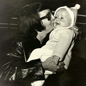 Roy Orbison Jr as a baby with his father Roy Orbison