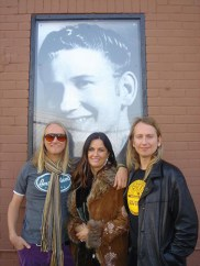 Roy Orbison Jr and Alex with mama, Barbara Orbison, at Sun Records Studio in Memphis, Tennessee