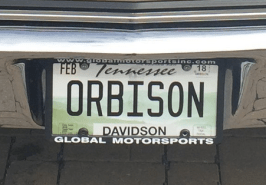 If you see this license plate out in #Nashville - Honk your horn! #ORBISON #RoyOrbisonJr #Chevrolet