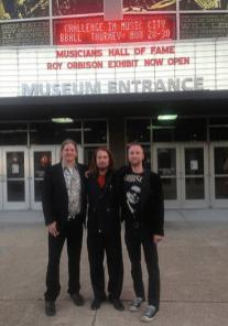 The Orbison Brothers outside Musicians Hall of Fame, Nashville
