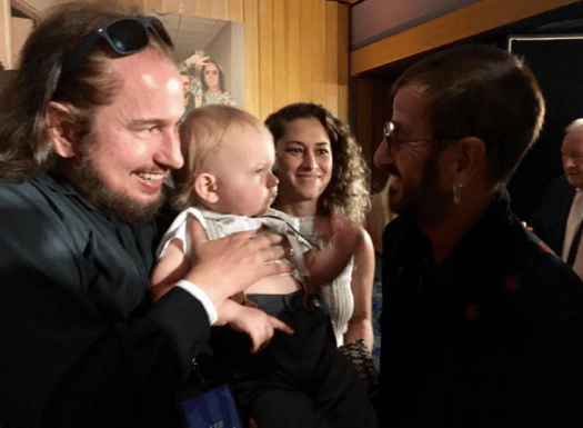 Roy Orbison Jr and Roy Orbison 3 with Ringo Starr from The Beatles