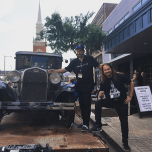 James Burton of Elvis Presley's TCB Band and Roy Orbison Jr in Shreveport, Louisiana. 2017