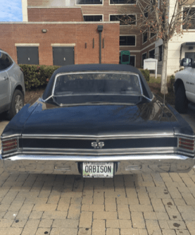 """1967 Chevelle with """"ORBISON"""" license plate!"""