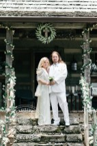 Roy Orbison Jr and Asa Orbison at Johnny Cash Cabin - Wedding Picture featured in People Magazine Photo Credit: Rebecca Denton Photography