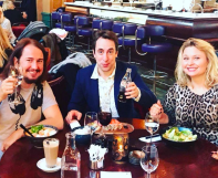"""Just had lunch with the funniest guy in Sweden, my friend and comedian Per Andersson and his awesome wife Malin ! Gave them the new album """"A Love So Beautiful"""" with Roy Orbison and Royal Philharmonic Orchestra"""