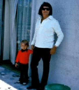 Pic of me & Dad. (around 1973) Roy Orbison & Roy Orbison Jr