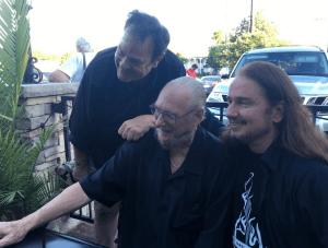 Eating dinner with Dan Aykroyd and Steve Cropper!