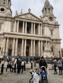 At St. Paul's Cathedral!