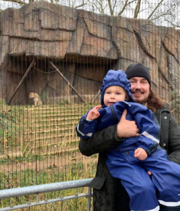 Hanging with the lions at the London Zoo!