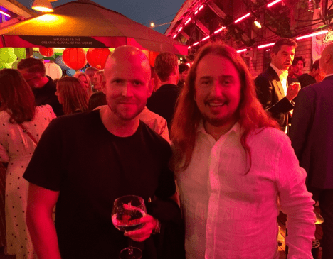 With my buddy Daniel Ek of Spotify again tonight!