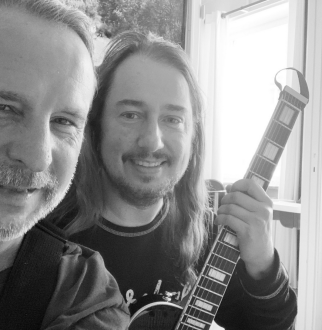 Me & my friend Patrik Isaksson, a great Swedish singer and musician.