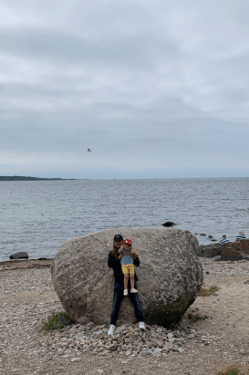 Here's me & Roy 3 at St Thora's Rock in Torekov.