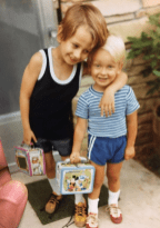 Some things never change...‬ ‪An early pic of me & my brother Alex! I'm on the left with the purple Yogi Bear lunchbox. He is on right with the blue Mickey Mouse lunchbox.‬ ‪Our Mom, Barbara Orbison took this pic. One of her favorite.
