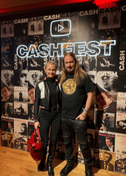 At the Johnny Cash Fest tonight!