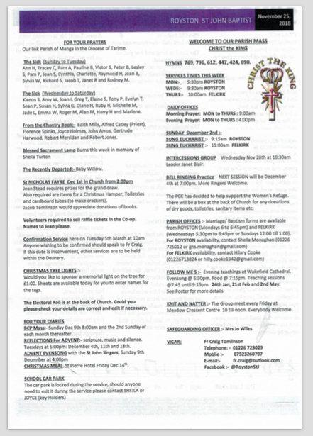Church Notices…