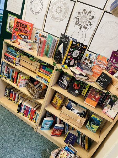 Our school librarians applied to work on our beautiful school library.