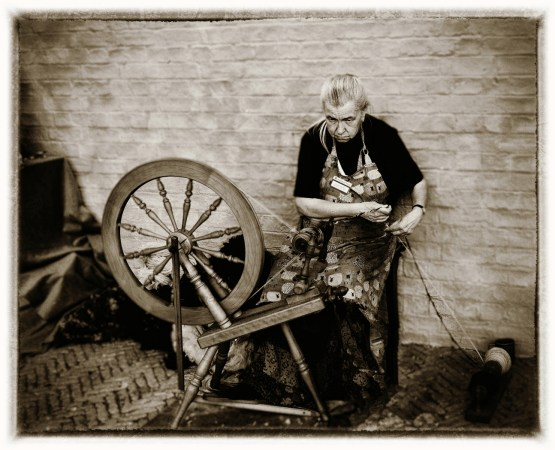 Wool spinning at Wimpole