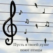 Пусть в твоей душе поют птицы Открытка