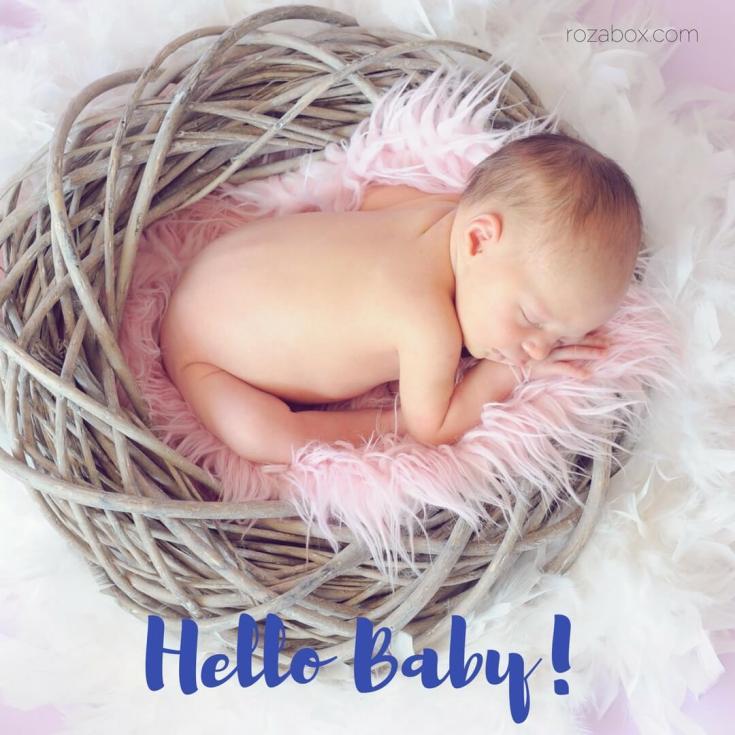 Открытка Hello Baby