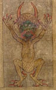Rysunek diabła na str. 290