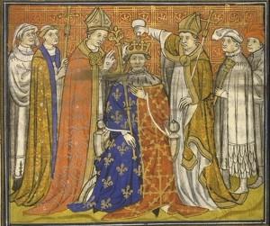 Tak wyglądała pospieszna koronacja Filipa V Długiego, dokonana zaledwie 2 miesiące po śmierci bratanka