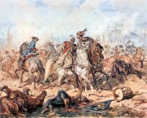 """""""Bitwa pod Parkanami"""" - obraz Juliusza Kossaka."""