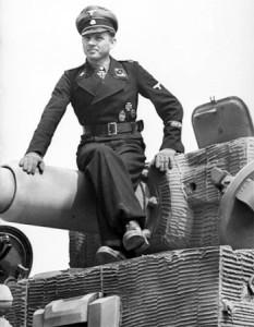 Michael Wittmann na swoim czołgu