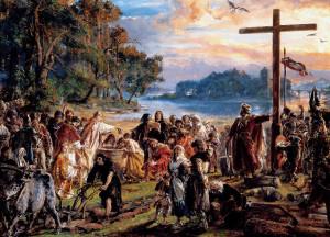 """Czy Mieszko I władał Gdańskiem i Pomorzem Wschodnim już w połowie X wieku? (polski książę na obrazie Jana Matejki """"Zaprowadzenie chrześcijaństwa"""")"""