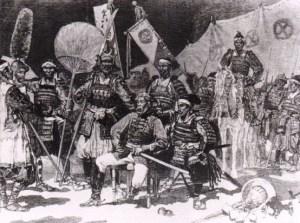 Samuraje, około 1875 roku