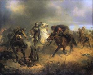 Maksymilian Gierymski, Potyczka z Tatarami