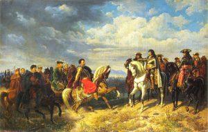 Artur Grottger, Spotkanie Jana III Sobieskiego z Leopoldem I