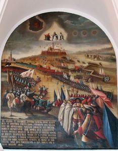 Oblężenie Jasnej Góry, obraz z pracowni klasztornej