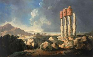William Hodges, Widok monumentów na Wyspie Wielkanocnej, 1795 rok
