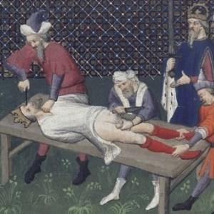Nieszczęsny Wilhelm III na łożu tortur. Wbrew obrazowi z epoki miał wówczas niespełna 10 lat…