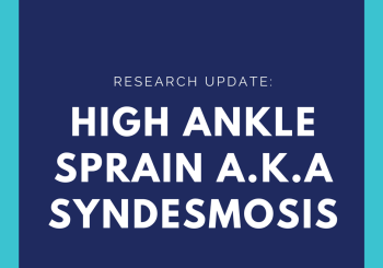 What is a high ankle sprain?
