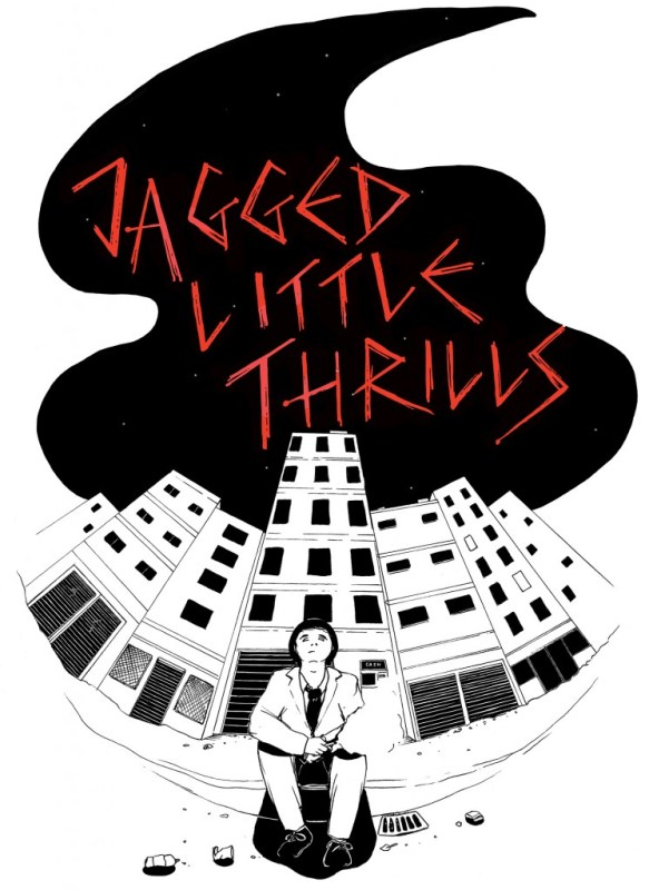 The first of two commissions, this one for local band Jagged Little Thrills' merchandise