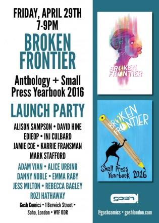 Broken Frontier Launch Party