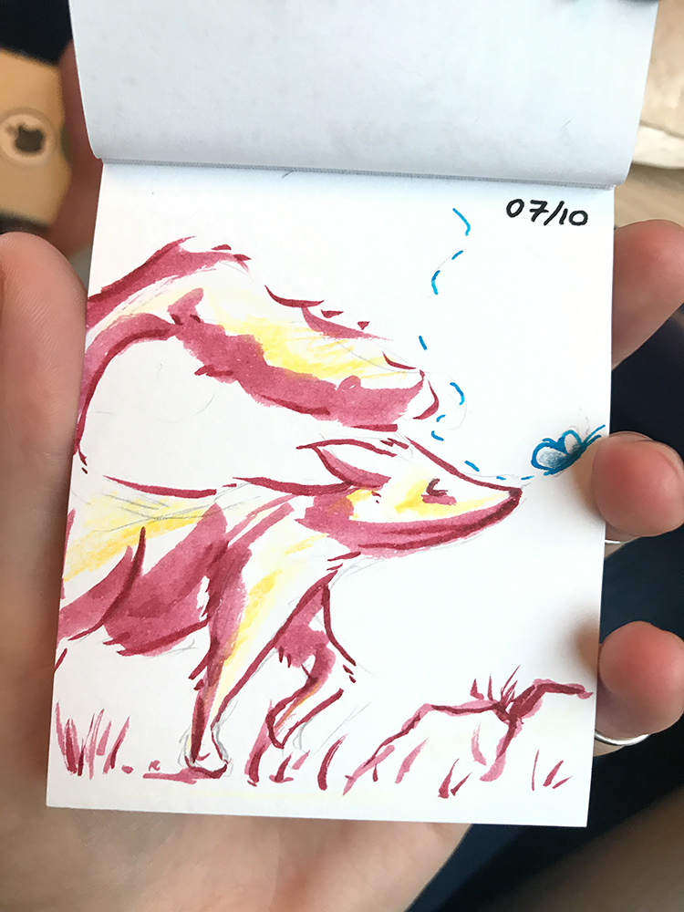 Travelling Inktober - on the way to BCZF!