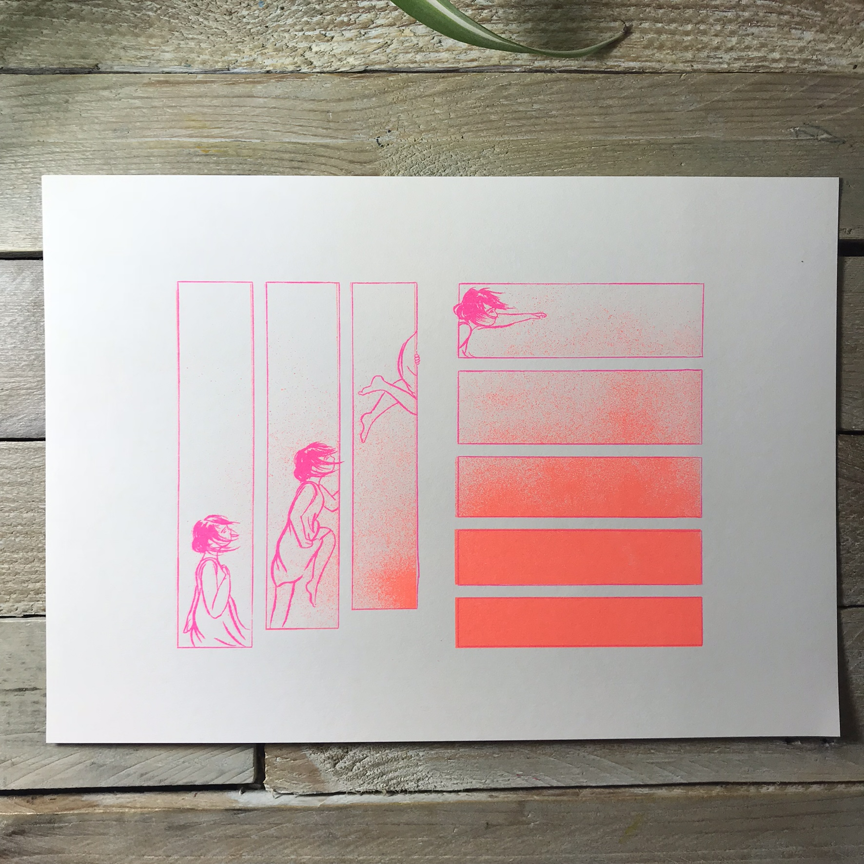 Reach A4 Print in orange/pink