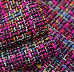 Haute Couture Fabric Tweed Woven Fabric Mix Colours Designer Tweed Fabric Alta Moda/Fashion week fabric/Various Colours Available Check