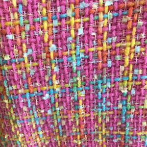 Italian Wool Tweed Fabric/PINK colour/Tweed fabric for jacket/Couture Tweed Fabtic/Various styles and colours available