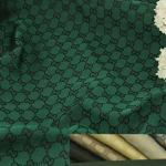RARE Gucci Jacquard Monogram Print in GREEN Designer Gucci Fabric/Jacket Jacquard Fabric/Jacquard Couture Fabric Various Colours Available