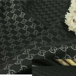 Gucci Jacquard Monogram BLACK Silver Logo/ Exclusive Fabric/Jacket Jacquard Gold Yarn /Gucci Couture Dress Fabric Various Colours Available