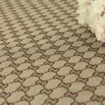 Gucci Jacquard Monogram Print DARK KHAKI(BROWN) Designer Fabric/Jacket Jacquard Fabric/Jacquard Couture Fabric Various Colours