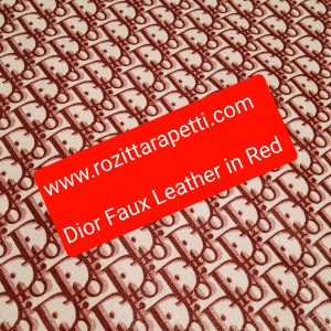 DIOR Leather Imitation Red/Dior faux leather/D logo sneakers fabric/Customs Made Faux Leather D